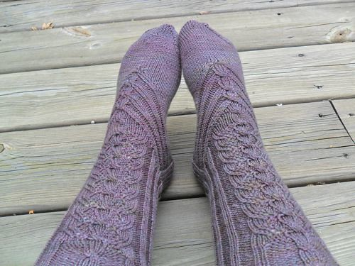 Haleakala socks by Cookie A