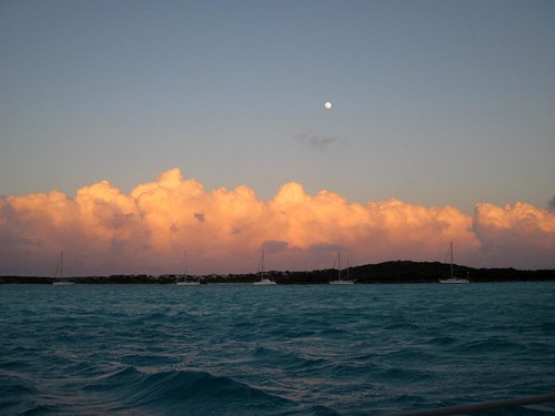 Moonrise sunset