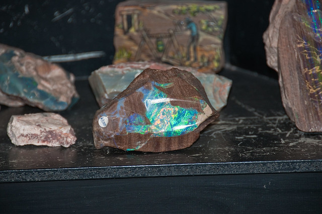 Polished opal in the shop