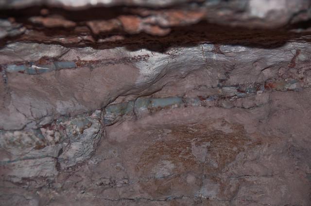 Opal in the rock