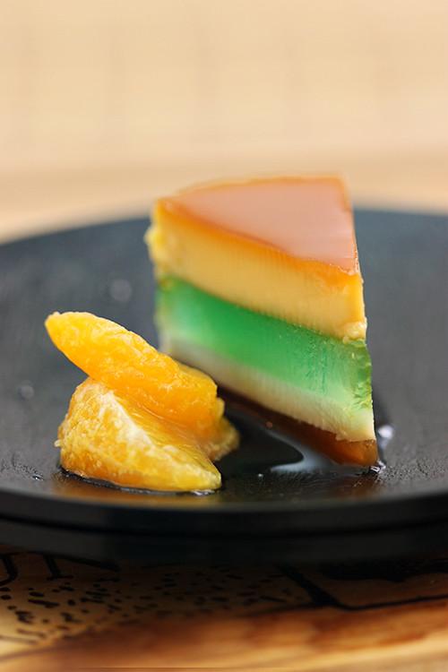flan agar dessert