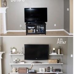 Diy Shelves In Living Room Colors For Life Thru A Linds Media Before After