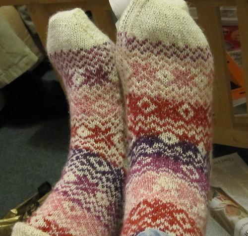 Mum's Fakeisle socks