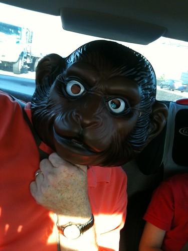 Pawpaw in a monkey mask