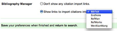 Google scholar citation linker