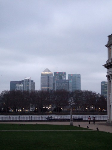 Dusk Settles Over Canary Wharf