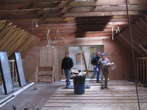 Attic with all skylights in