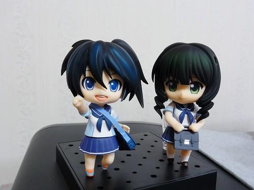 Unofficial Nendoroid Kuroi Mato and Takanashi Yomi