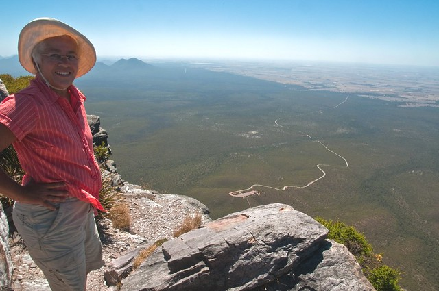 Chris at the summit of Bluff Knoll