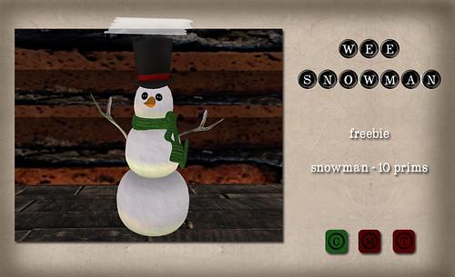 Barcode - Wee Snowman