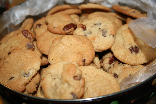 First batch of cookies-chocolate chips