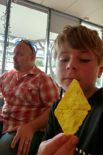 Alek and the double corn chip