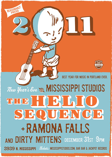 December 31: New Years Party With Helio Sequence, Ramona Falls, and Dirty Mittens @ Mississippi Studios