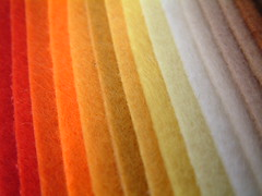 Colorful felt