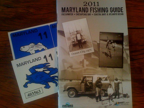 2011 Maryland Fishing Licenses