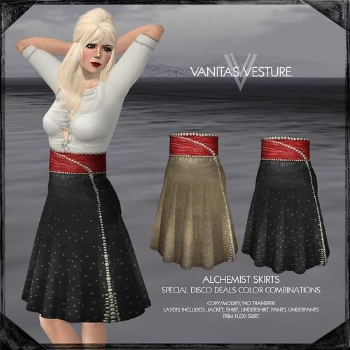 Vanitas Vesture - Wonderland - Alchemist Skirt - Disco Deals