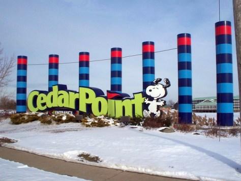Cedar Point - Off-Season Welcome Sign