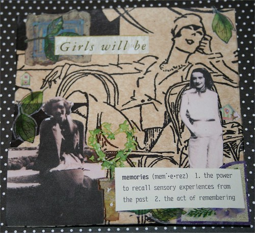 "Girls will be 4"" x 4"" Collage Card"