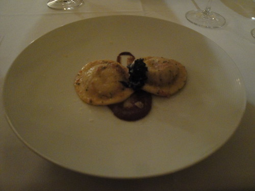 Pork Ravioli with Black Pepper Sauce