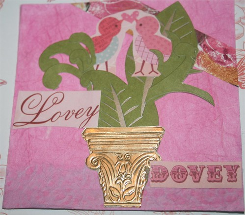 """Lovey Dovey 4"""" x 4"""" Collage Card"""