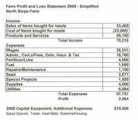 Profit and Loss Statement  2009 - North Slope Farm ...