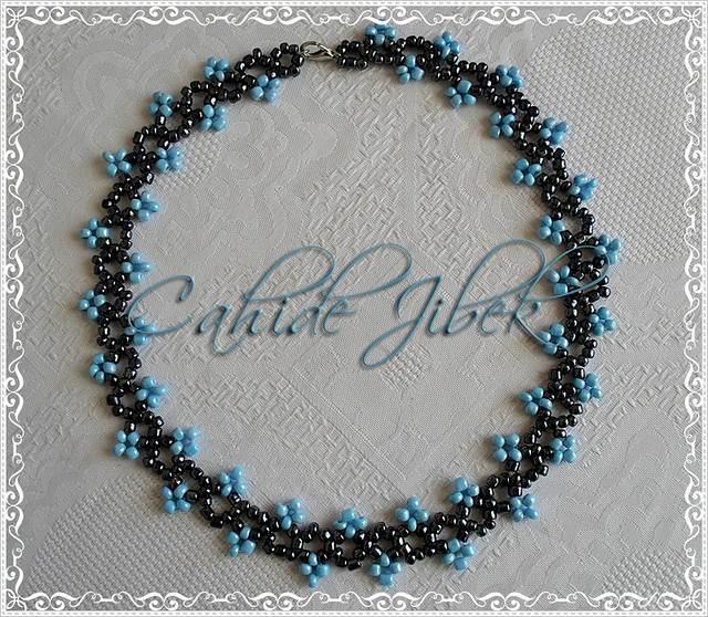 Mavi takı tasarım