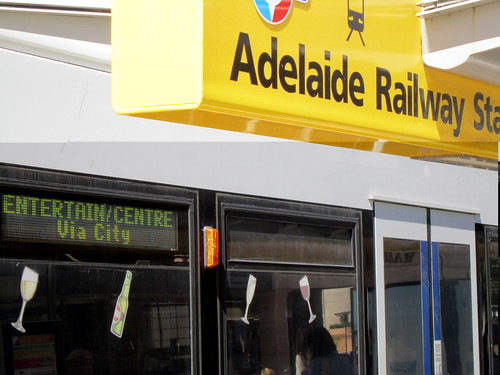 Adelaide Railway Station tram stop