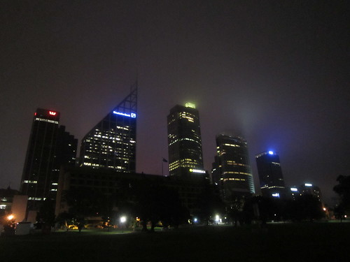 The camera could not do justice to the beauty of tonight's fog.