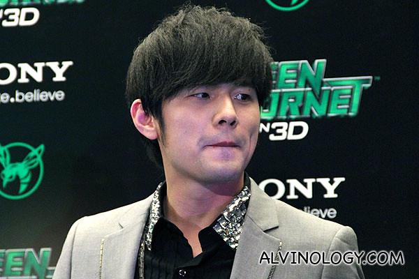 Close-up of Jay Chou