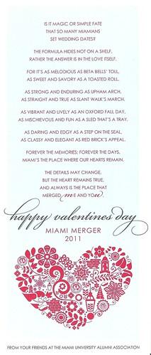 2011 Miami Merger Valentine
