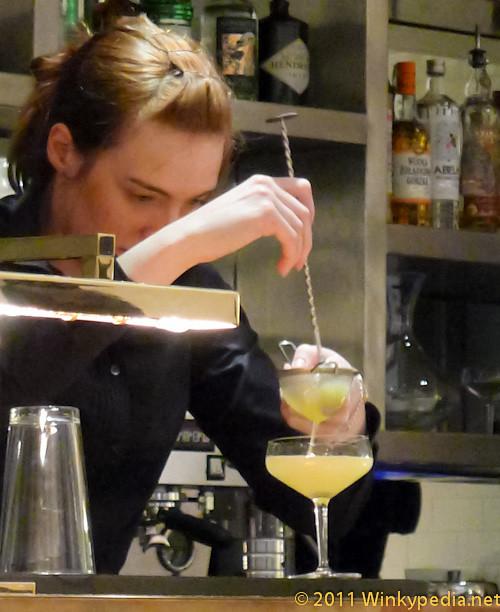 Pineapple and sage martini at Nopi