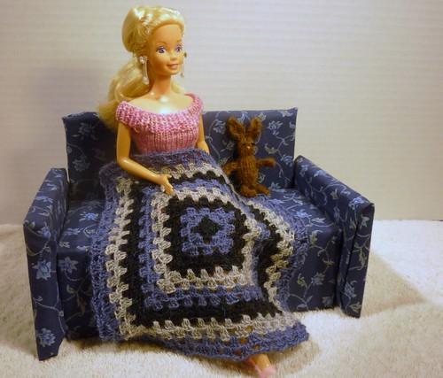Barbie afghan