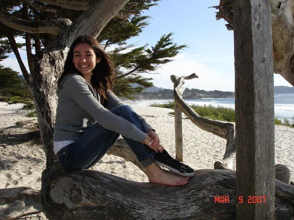 Ana on the beach