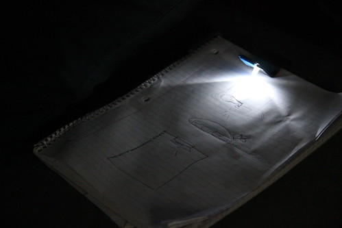 Dream Journal Clip with a white LED