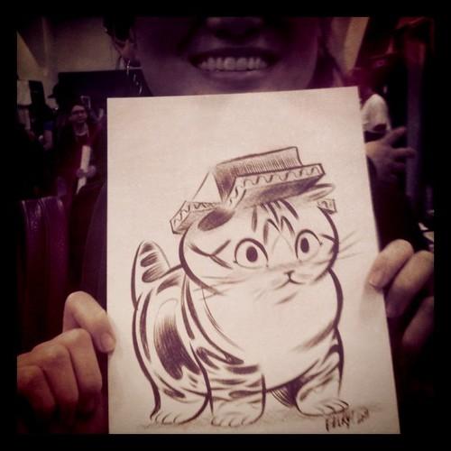 One-of-kind Maru sketch by Becky Dreistadt!
