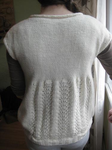 Winter White Overshirt - Back