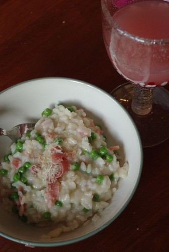 Risotto with Prosciutto and Peas