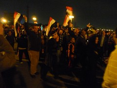 Celebrations of Mubarak's resignation on Kasr ...