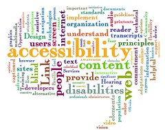 web accessibility word cloud