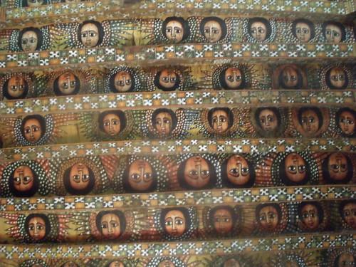 Church, Gondar, Ethiopia, ceiling