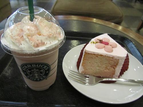 Sakura time at Starbucks