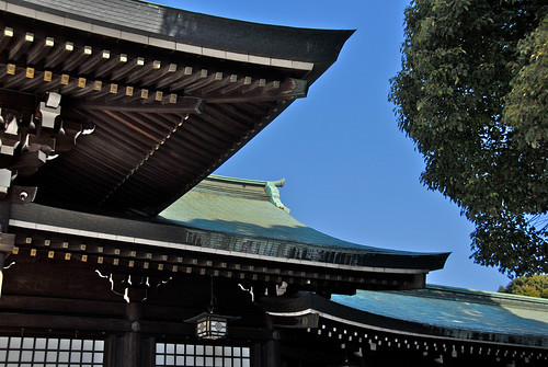 Meiji shrine roof lines