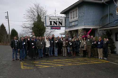 Lunch stop at the Fanny Bay Inn--Group photo