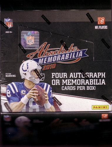 2010 Panini Absolute Memorabilia box