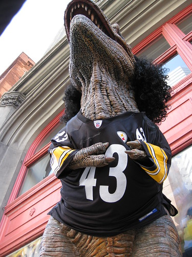 #43 T-Rex Polamalu by daveynin, on Flickr
