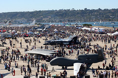 Visitors check out displays celebrating Naval ...