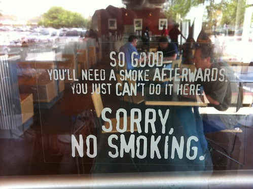 Chipotle no smoking sign