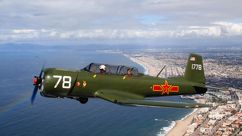 Nanchang CJ-6 Over the Pacific