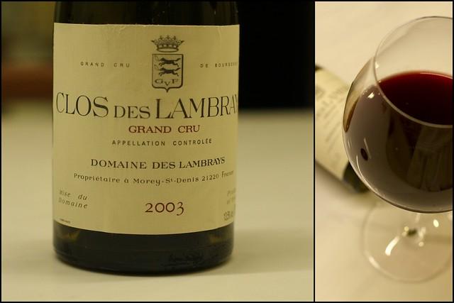 Clos des Lambrays 2003