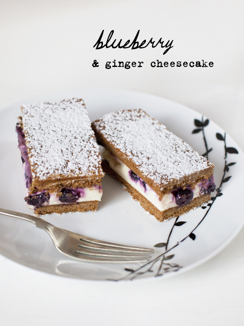 blueberry & ginger cheesecake